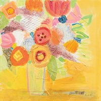 Misty Yellow Floral Fine Art Print