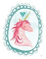 Unicorn Magic I with Border Fine Art Print
