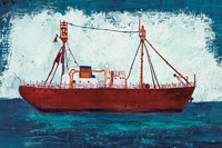 Nantucket Lightship Navy no Words Fine Art Print