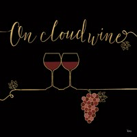 Underlined Wine VIII Black Fine Art Print