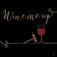 Underlined Wine VII Black Fine Art Print