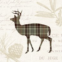 Plaid Lodge II Tan Fine Art Print