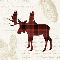 Plaid Lodge IV Fine Art Print