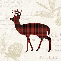 Plaid Lodge II Fine Art Print