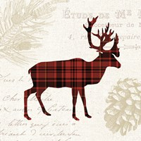 Plaid Lodge I Fine Art Print
