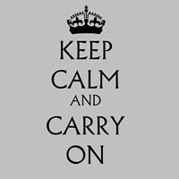 Keep Calm & Carry On - White Fine Art Print