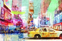 Taxis in Times Square 2.0 Fine Art Print