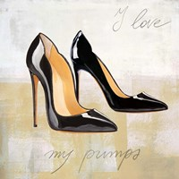 I Love my Pumps Framed Print