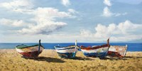 Boats on the Beach Fine Art Print