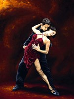 The Passion of Tango Framed Print