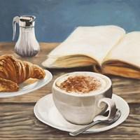 Cappuccino & Book Fine Art Print