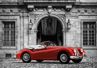 Luxury Car in front of Classic Palace Fine Art Print