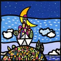 Barca sulla Collina Fine Art Print