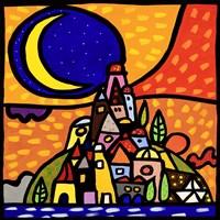 Luna sulla Collina Fine Art Print
