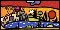 Tramonto sul Lago Fine Art Print