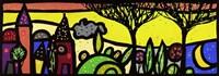 La Luna Canta sul Piccolo Borgo Fine Art Print