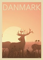 Deer Park in Esbjerg Fine Art Print