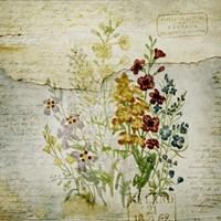 Flower Print Grunge One Fine Art Print