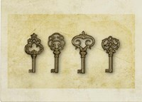 Gold Key Vintage Fine Art Print