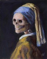 Skelly with a Pearl Earring Fine Art Print
