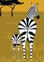 Zebra Mare and Baby Fine Art Print