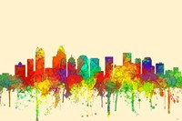 Charlotte NC Skyline-SG Fine Art Print