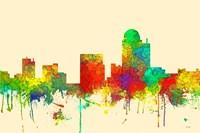 Winston-Salem North Carolina Skyline SG Fine Art Print