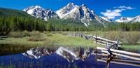 McGown Peak Reflected on a Lake, Sawtooth Mountains, Idaho Fine Art Print
