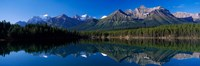 Reflection of Mountains in Herbert Lake, Banff National Park, Alberta, Canada Fine Art Print