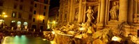 Trevi Fountain at Night, Rome, Italy Fine Art Print