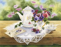 Victorian Tea in the Garden Fine Art Print