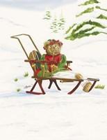 Bears Sleigh Ride Fine Art Print