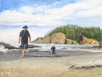 Footsteps in the Sand Fine Art Print