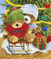 Teddy Bear Christmas Fine Art Print