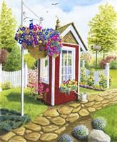 Langley Garden Shed Fine Art Print