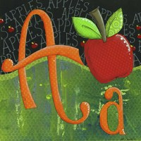 A for Apple Fine Art Print