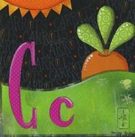 C for Carrots Fine Art Print