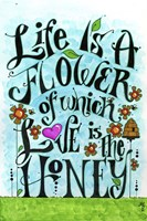 Flowery Life Fine Art Print