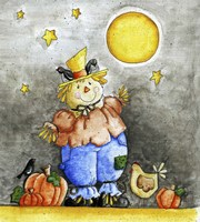 Scarecrow and Friends Fine Art Print