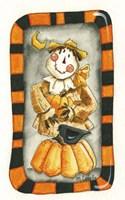 Halloween Scarecrow and Friends Fine Art Print