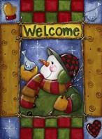Woodland Snowman Fine Art Print