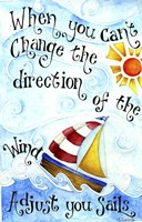 Adjust Your Sail(Words) Fine Art Print