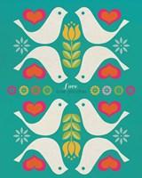 Groovy Doves Fine Art Print