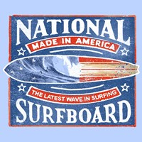 National Surfboard Fine Art Print