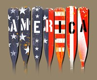 America - Oars Fine Art Print