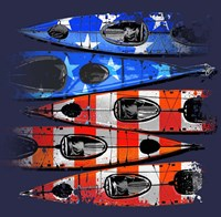 Flag Kayaks Fine Art Print