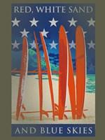 Surfboards Line Up Fine Art Print