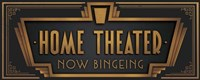 Home Theater Fine Art Print