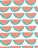 Watermelon Wallpaper Fine Art Print