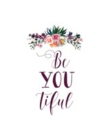 BeYouTiful Dark Florals Fine Art Print